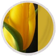 Yellow Rose Art Round Beach Towel