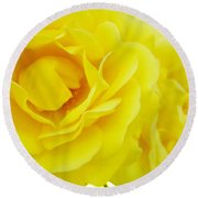 Yellow Roses Art Prints Botanical Giclee Prints Baslee Troutman Round Beach Towel
