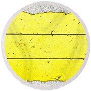 Yellow Stone Round Beach Towel