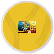 Yellow Submarine Round Beach Towel