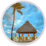 Yellow Tiki Round Beach Towel