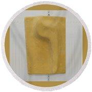 Yellow Vav Round Beach Towel
