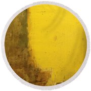 Yellow Wall Round Beach Towel