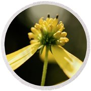 Yellow Wildflower Round Beach Towel