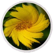 Yellow Wonder Round Beach Towel