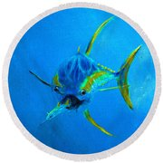 Yellowfin Tuna Three Round Beach Towel