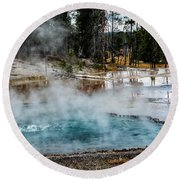 Yellowstone Colors #2 Round Beach Towel