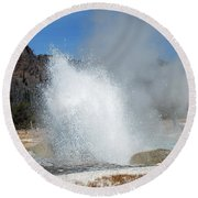 Yellowstone Features  Round Beach Towel