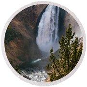 Yellowstone Grand Canyon Falls Round Beach Towel