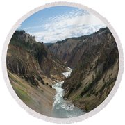 Yellowstone Grand Canyon Round Beach Towel