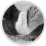Yellowstone: Grand Falls Round Beach Towel