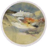 Yellowstone, Hot Springs, July 21, 1892 Round Beach Towel