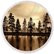 Yellowstone Lake Round Beach Towel