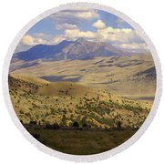 Yellowstone View Round Beach Towel
