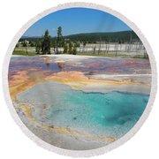 Yellowstone's Firehole Round Beach Towel