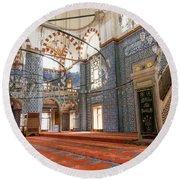 Yeni Cami Mosque Round Beach Towel