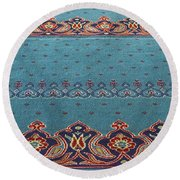 Yeni Mosque Prayer Carpet  Round Beach Towel