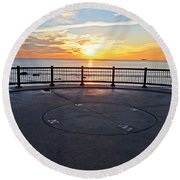Yes, The Sun Rises To The East Red Rock Park Lynn Shore Drive Round Beach Towel