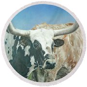 Yes, This Is Texas Round Beach Towel