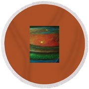 Yin Yang And Five Elements Round Beach Towel