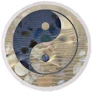 Yin Yang Harmony Round Beach Towel