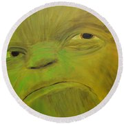 Yoda Selfie Round Beach Towel