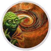 Yoda-no Fear Round Beach Towel