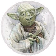 Yoda Round Beach Towel