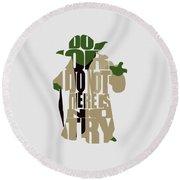Yoda - Star Wars Round Beach Towel
