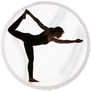 Yoga Pose King Dancer Round Beach Towel