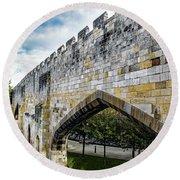 York City Roman Walls Round Beach Towel