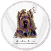Yorkshire Terrier Pop Art Round Beach Towel