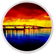 Yorktown Virgina Round Beach Towel