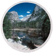 Yosemite #1 Round Beach Towel