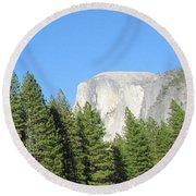 Yosemite Domes Round Beach Towel