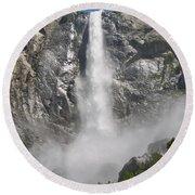 Yosemite Falls Round Beach Towel