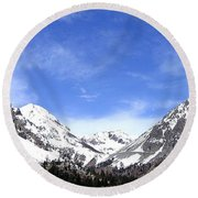 Yosemite Park Round Beach Towel