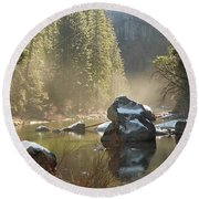 Yosemite Spring Round Beach Towel
