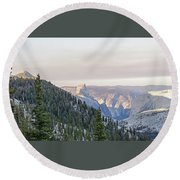 Yosemite Sunrise Round Beach Towel