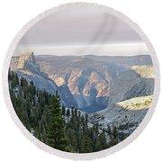 Yosemite Sunrise II Round Beach Towel