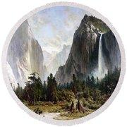 Yosemite Valley, C1860 Round Beach Towel