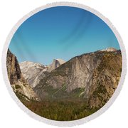 Yosemite Valley Round Beach Towel