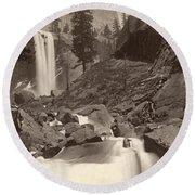 Yosemite: Vernal Fall Round Beach Towel