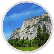 Yosemite West Valley Round Beach Towel