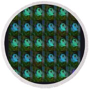 You And Your Strange Colour Ways Round Beach Towel