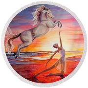 You Are Andalusian Round Beach Towel