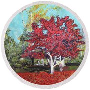 You Are My Heart Round Beach Towel