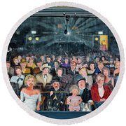 You Are The Star Mural Hollywood Round Beach Towel