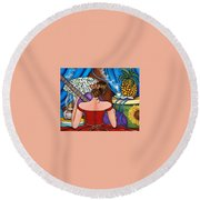 You Belong To Me Round Beach Towel