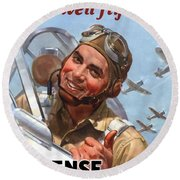 You Buy 'em We'll Fly 'em Round Beach Towel by War Is Hell Store